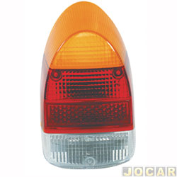 Lente da lanterna traseira - importado - fusca 1500 / 1300l - acrílico - âmbar ( amarela ) - cada ( unidade ) - 1001.11