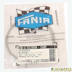 Cabo do acelerador - Fânia - Fusca 1300 / 1500 / 1600 - 1967 até 1996 - carburação dupla - 2568 mm - cada ( unidade ) - 61 - 110