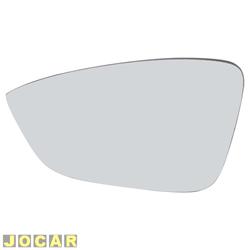 Lente do retrovisor sem base - Flabeg ( Refil ) - Gol / Voyage / Saveiro G5 2009 até 2012 - auto - colante - lente menor - prata - lado do motorista - cada ( unidade ) - 1533