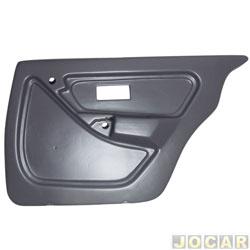 Revestimento de porta - alternativo - Monza 1991 até 1996 - 4 portas - cinza - traseiro - lado do passageiro - cada (unidade)