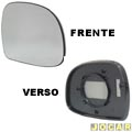 Lente do retrovisor com base - S10/Blazer - 1995 at 2011 -  Silverado - fixo (sem controle) - com base redonda - prata - lado do passageiro - cada (unidade)