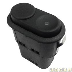 Interruptor do vidro - alternativo - Kadett / Ipanema - 1994 até 1998 e Fox 2003 á 2009 - luz vermelha ( para adaptação Fox ) cortar fios originais - preto - cada ( unidade )