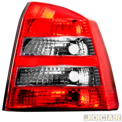Lanterna traseira - Arteb - Astra hatch 2003 até 2011 - aba preta - fumê - lado do passageiro - cada ( unidade ) - 0460478