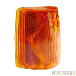 Lanterna dianteira - alternativo - Uno - Prêmio - Fiorino - Elba até 1990 - âmbar ( amarela ) - lado do passageiro - cada ( unidade )