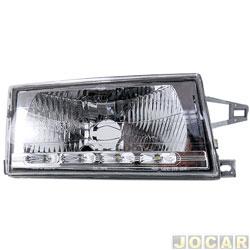Farol - alternativo - RCD - Uno 1991 até 2004 - lampada H4 - com led - lado do passageiro - cada ( unidade ) - FL2138RV