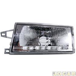 Farol - alternativo - RCD - Uno 1991 até 2004 - lampada H4 - com led - lado do motorista - cada ( unidade ) - FL2139RV