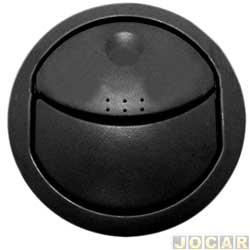 Entrada de ar do painel - alternativo - Novo Uno 2011 até 2014 - primeira versão - lateral - preto - cada ( unidade )