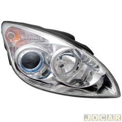 Farol - importado - Hyundai i30 2009 até 2012 - lado do passageiro - cada ( unidade ) - 30321 / 30803