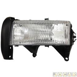 Farol - importado - Dakota 1997 até 2001 - sem lanterna - lado do motorista - cada ( unidade ) - 62089