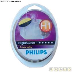 Kit lâmpada do farol - Philips - milha - H1 x2 - NightGuide ( 50% mais luz ) - par - 12258NGDL - CI