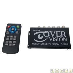 Receptor automotivo para TV - importado - digital - DTV ( HDTV ) - 12V - com controle remoto - cada ( unidade ) - 10101010