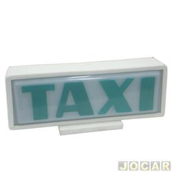 Luminoso Táxi - pequeno com imã - branco - cada (unidade)