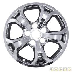 Capa da roda - NK Brasil - Tucson até 2016 - Aro 16 - cromada - cada ( unidade ) - H1505