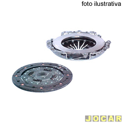 Kit de embreagem - LUK - Hilux / SW4 - 2005 em diante - 3.0 16V 4X2 / 4X4 - turbo diesel - 262mm - 21 estrias - jogo - 626 3022 09