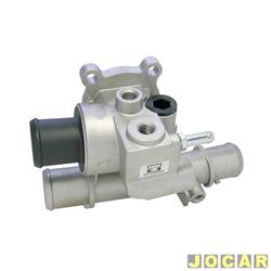 Válvula termostática - MTE - Thomson - Palio / Siena / Strada / Brava - 1.6 16V MPI 2001 até 2003 - Doblò 1.6 16V MPI 2004 até 2006 - sem ar condicionado - cada ( unidade ) - VT377.88