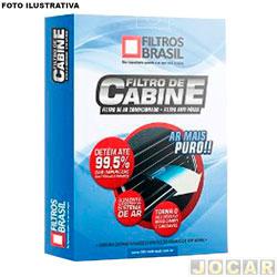 Filtro da cabine - Filtros Brasil - Chevrolet S10 2012 em diante - cada ( unidade ) - FB1112