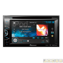 DVD player - Pioneer - com 6,1 Polegadas, Touch Screen, Bluetooth, USB e SD. - cada ( unidade ) - AVH - X1680DVD