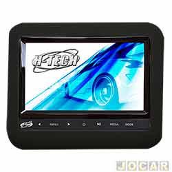 Monitor - H - Tech - de 9 Led acoplável, leitor de DVD, MP3, MP4, MP5 e controle - preto - cada ( unidade ) - HT - AC900