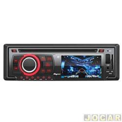 DVD player - Quatro Rodas - tela 3 - com USB / Aux / SD / Bluetooth / Viva - voz - cada ( unidade ) - MTC6616
