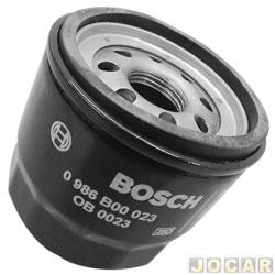 Filtro de óleo - Bosch - Clio 1.0 16v - 01 / 05 - Power 1.0 16v - 05 / 08 - Kangoo / Twingo - Fit 1.4 2003 até 2008 - Sentra 2.0 2009 em diante - cada ( unidade ) - 0986B00023