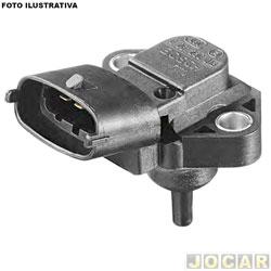 Sensor de pressão - Bosch - kadett / Ipanema / Vectra 2.0 mpfi 1996 até 1998 - cada ( unidade ) - 0261210013