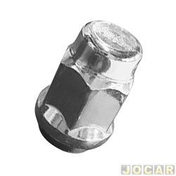 Porca da roda - alternativo - A10 / A20 / C10 / C20 / D10 / D20 / Bonanza / Veraneio - S10 - 1995 até 1997 - cromada - cada ( unidade )