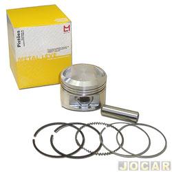 Pistão com anel - Metal Leve - Honda CG 150 Titan - cada ( unidade ) - P&A - 9171 - 0,25