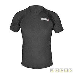 Camiseta - Auto+ - Dry Fit - gola V - tamanho G - preta - cada ( unidade ) - 93008
