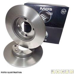 Disco de freio - MDS - Mercedes - Benz MB180 - sólido - 284mm - dianteiro - par - D - 181C