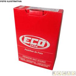 Pastilha de freio - Ecopads - MB - 180 D Furgão 1994 até 1996 - Trafic 1995 até 1998 - Master 2.0 / 2.5 - 1988 em diante - sistema Bendix - dianteiro - jogo - ECO - 1254