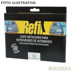 Lente do retrovisor sem base - Twingo / 98 - prata - lado do motorista - cada ( unidade )