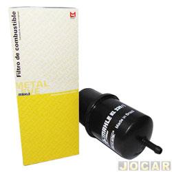 Filtro de combustível - Metal Leve - Gol 1.0 MI 8v 97 / 08 - Parati / Saveiro MI 1.6 1.8 16v 97 / 08 - aluminio - injeção eletronica - cada ( unidade ) - KL238