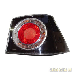 Lanterna traseira - importado - Golf 2008 até 2014 - lateral - fumê - lado do passageiro - cada (unidade) - 09339