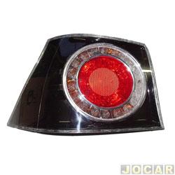 Lanterna traseira - importado - Golf 2008 até 2014 - lateral - fumê - lado do motorista - cada (unidade) - 09340