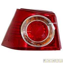 Lanterna traseira - importado - Golf 2008 até 2014 - vermelho - lado do motorista - cada (unidade) - ZN14141342