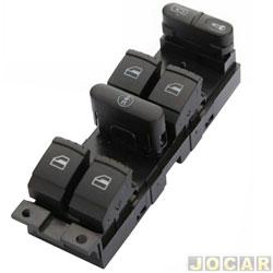 Interruptor do vidro - alternativo - Golf 1999 em diante - Bora/Passat 1998 até 2005 - conjunto - cada (unidade)