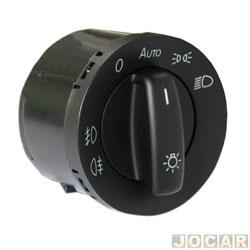 Interruptor do farol - Golf 2008 em diante - Polo 2007 em diante - com milha - preto - cada (unidade)
