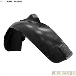 Para-barro do para-lama dianteiro - importado - Golf 2008 até 2014 - preto - lado do motorista - cada (unidade) - BR315
