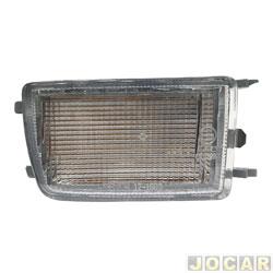 Lanterna do para-choque - TYC - Golf GL/GLX 1995 até 1998 - com função - cristal (branco) - dianteiro - inferior - lado do passageiro - cada (unidade) - 20490