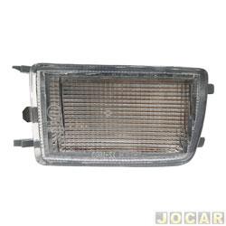 Lanterna do para-choque - TYC - Golf GL / GLX 1995 até 1998 - com função - cristal (branco) - dianteiro - inferior - lado do motorista - cada (unidade) - 20491