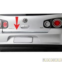 Friso aplique do capô traseiro - Sport Inox - Golf 2000 até 2010 - auto colante - resinado - aço escovado - cada (unidade) - VW006FSIE