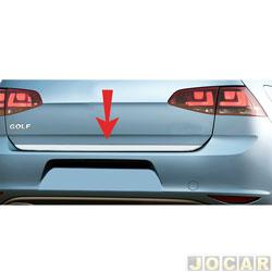 Friso aplique do capô traseiro - Sport Inox - Golf 2011 até 2013 - auto colante - resinado - aço escovado - cada (unidade) - VW022FSIE