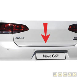 Friso aplique do capô traseiro - Sport Inox - Golf 2014 em diante - auto colante - resinado - aço escovado - cada (unidade) - VW020FSIE