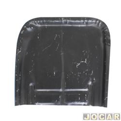 Remendo do assoalho - alternativo - Fusca 1959 até 1996 - remendo parte traseira - curto - para pintar - lado do motorista - cada (unidade)
