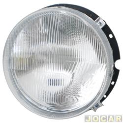 Farol - alternativo - RCD / InovWay - Fusca/Kombi 1976 até 1996 - carcaça de plástico - direito e esquerdo - cada (unidade) - RC112