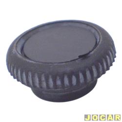 Botão do porta-luvas - alternativo - Fusca 1977 até 1983 - sem chave - preta - cada (unidade)
