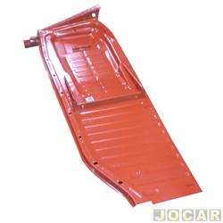 Assoalho - alternativo - Estriguarú - Fusca 1959 até 1975 - completo - para pintar - lado do passageiro - cada (unidade) - S156