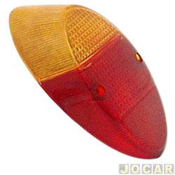 Lente da lanterna traseira - Hawk Lanternas - Fusca 1200/1300 1959 até 1975 - acrílico - vermelho e amarelo - cada (unidade) - 1000.11