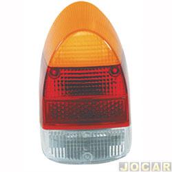 Lente da lanterna traseira - Hawk Lanternas - fusca 1500/1300l - acrílico - âmbar (amarela) - cada (unidade) - 1001.11