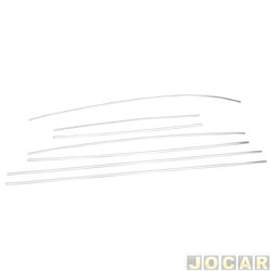 Friso lateral - alternativo - Imecal - Fusca 1971 at� 1986 - 7 pe�as - fino - anodizado - fixado com grampo - cromado - jogo - 1407